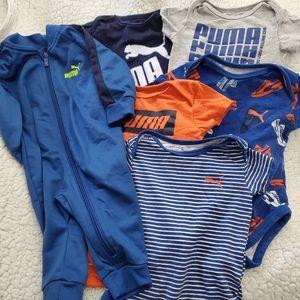 Puma 6 baby bodysuits